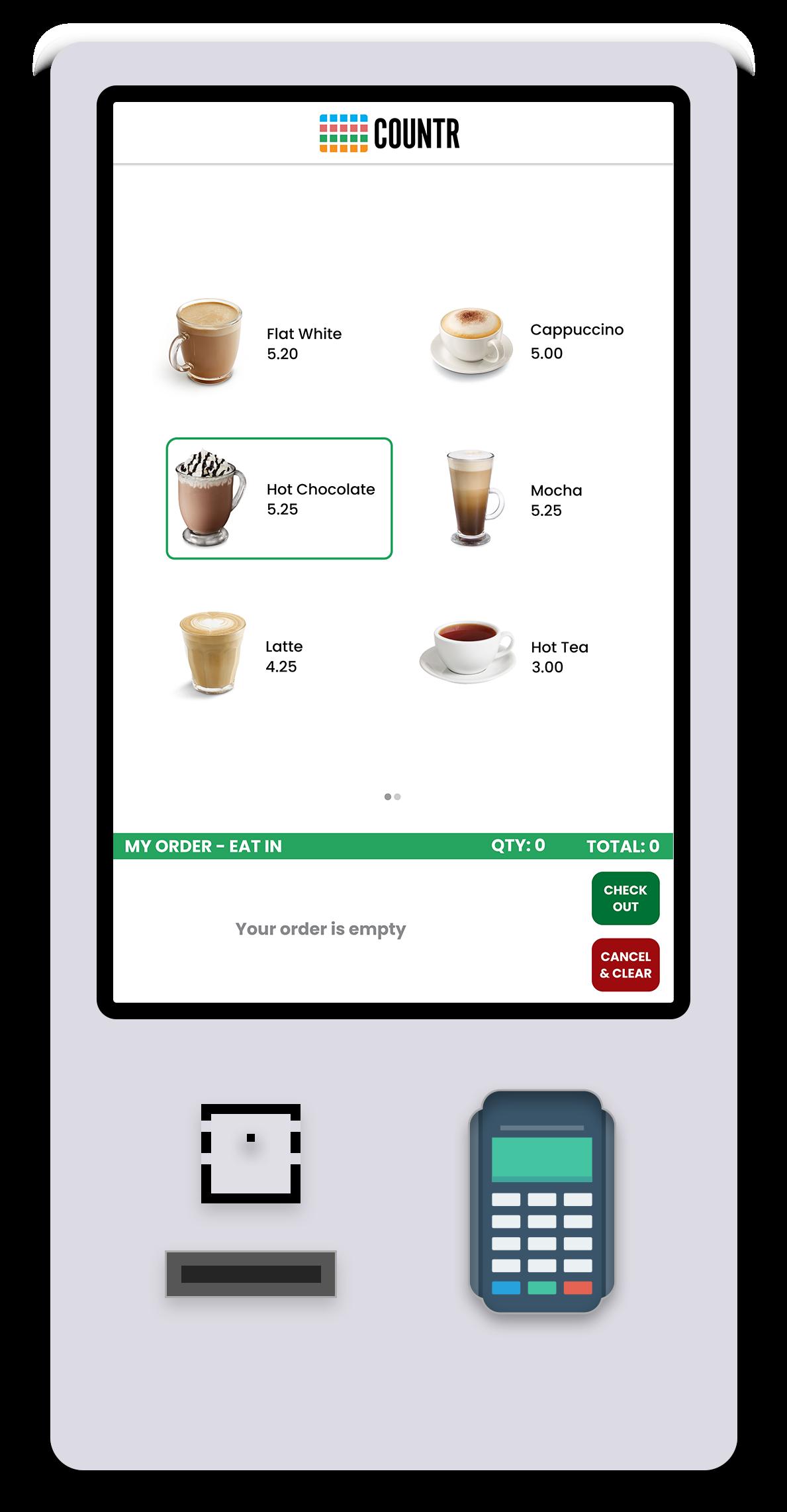 self service kiosk demo countr_product page